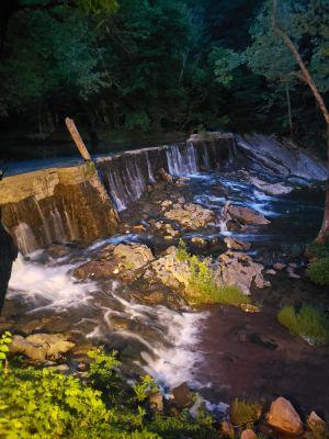 the ole dam at night